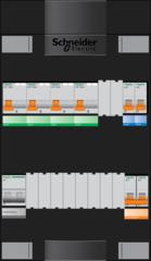 Schneider groepenkast 3 fase