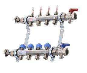VTE - RVS vloerverwarming verdeler - zonder pomp