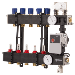 Terminon Composite verdelers met A-Label pomp en flowmeters