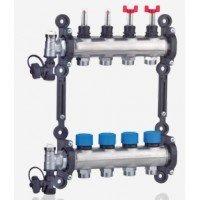 TOP-Flow RVS vloerverwarming verdeler zonder pomp