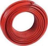 Uponor Uni pipe PLUS 25 x 2,5 mm in isolatie mantel 6 mm rood restant stuk van 6 meter,_