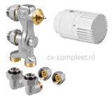 Jaga Pro Ventiel M24 inclusief thermostaatknop kleur Wit en klemkoppelingen_