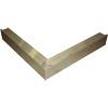Aluminium hoekstuk (buiten) voor daktrim   60/64 mm_
