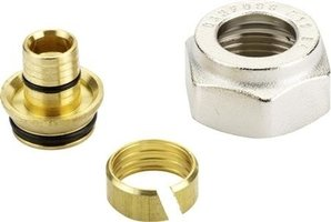 Adapter voor vloerverwamings buis PE-RT 14 x 2 mm x 3/4