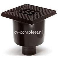 PP Vloerput Type M 200 x 200 onder uitlaat 75 mm