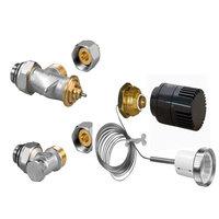 Jaga aansluit aanvoer en retour ventiel met thermostaatknop zwart voor afstandbediening