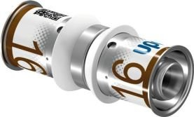 Uponor S-Press Plus perskoppeling, sok 16 x 16 mm recht