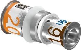 Uponor S-Press Plus perskoppeling, verloopsok 16 x 20 mm recht