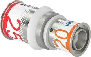 Uponor S-Press Plus perskoppeling, verloopsok 20 x 25 mm recht
