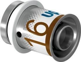 Uponor S-Press Plus perskoppeling, eindstop MLC 16 mm recht