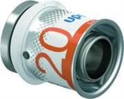 Uponor S-Press Plus perskoppeling, eindstop MLC 20 mm recht