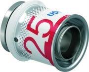 Uponor S-Press Plus perskoppeling, eindstop MLC 25 mm recht