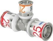 Uponor S-Press Plus T stuk 25 x 20 x 25 mm, perskoppeling