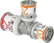Uponor S-Press Plus T stuk 25 x 20 x 20 mm, perskoppeling
