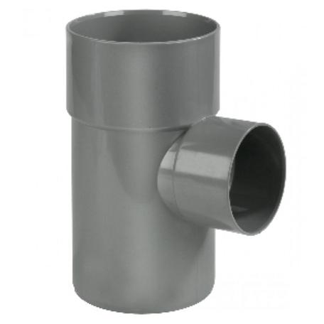 PVC lijm T Stuk 125 x 110 mm 90° 2 x mof/spie