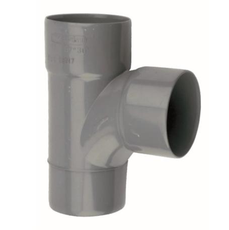 PVC lijm T Stuk 75 x 75 mm 90° 2 x mof/spie