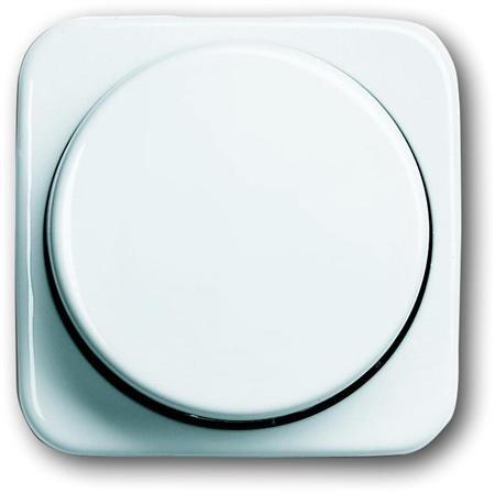Busch-Jaege - centraal plaat knop dimmer - kleur r-alpin wit - BJ 2115-214