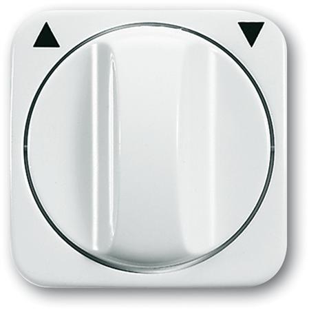 Busch-Jaege - Jaloezie centraal plaat + knop - kleur r-alpin wit - BJ 2542-214