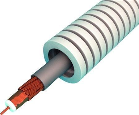 Flex buis 16 mm bedraad met 1 x Coax kabel (0,75 Ohm) - rol á 100 meter