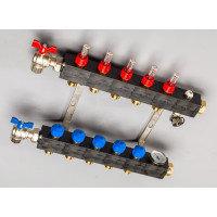 Top-Flow kunststof verdeler PRO 5 groepen inclusief adapters 16 mm