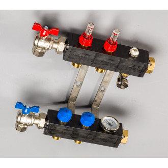 Top-Flow kunststof verdeler PRO 2 groepen inclusief adapters 16 mm