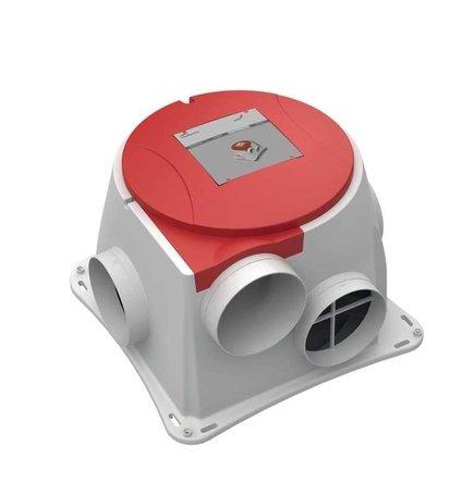 Zehder Stork ComfoFan S RP energiezuinige woonhuisventilator met perilex steker en radiografische ontvanger
