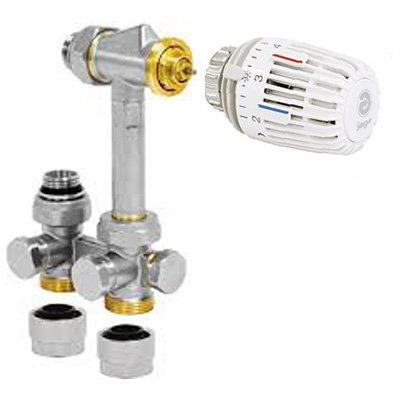 Jaga Hybrid Aansluitset 104 voor verwarmen en koelen, voor leidingen uit de vloer