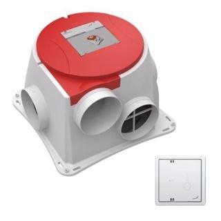 ComfoFan S +CO2 - sensor RF67 -  Zehnder energiezuinige woonhuisventilator met randaarde steker