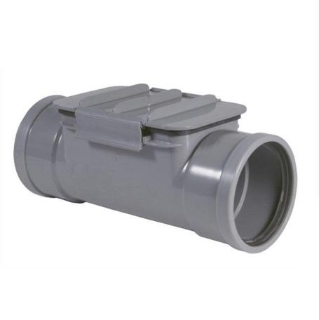 PVC Ontstoppingstuk met klemdeksel - 160 mm SN8 2 x mof manchet verbinding