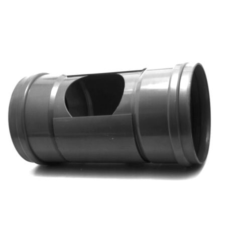 PVC Ontstoppingstuk met schuifkap- 250 mm 2 x mof manchet verbinding