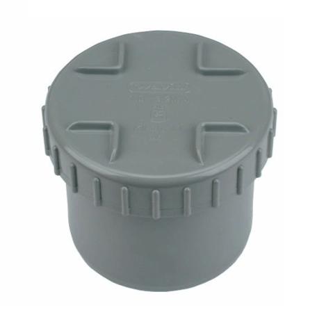 PVC Eindstuk met schroefdeksel 50 mm