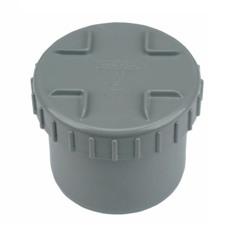 PVC Eindstuk met schroefdeksel 75 mm