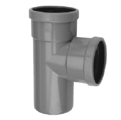 PVC manchet T Stuk 110 x 110 mm 90¡ 2 x mof/spie