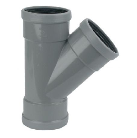 PVC manchet T Stuk 250 x 250 mm 45¡ 3 x mof