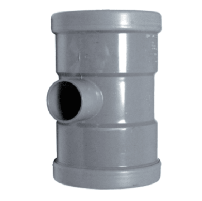 PVC manchet T Stuk 110 x 40 mm 90¡ 3 x mof