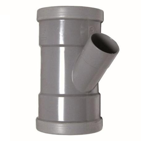PVC manchet T Stuk 125 x 40 mm 45¡ 3 x mof
