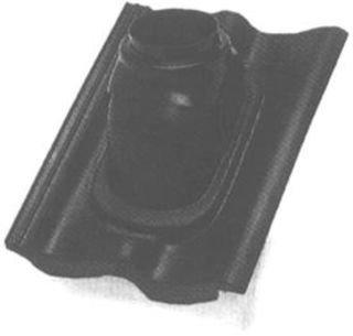 Ubbink dakdoorvoerpan, type rbb sneldek/weerter git, 125mm, 25-45° kunststof, 1-pan(nen), verticale doorvoer