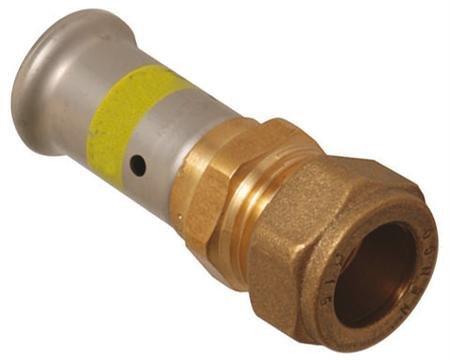 Henco Gas perskoppeling - overgangskoppeling 16 mm x 15 mm knel