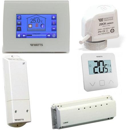 Watts Vision comfort set voor voor vloerverwarming met 4 groepen