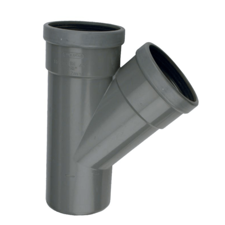 PVC manchet T Stuk 250 x 250 mm 45° 2 x mof/spie