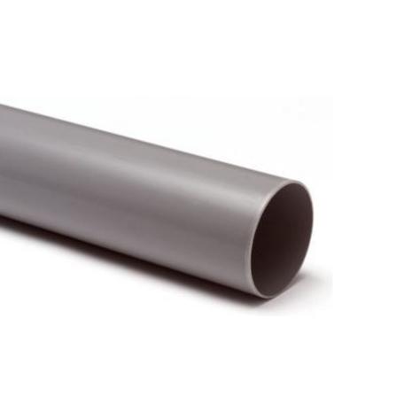 PVC Hemelwaterafvoerbuis grijs 100 mm lengte 5.55 meter