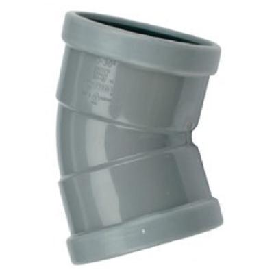 PVC bocht 250 mm kort 30¡ manchet 2 x mof