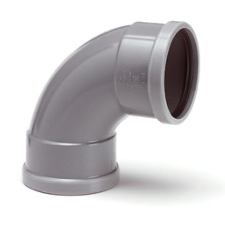 PVC bocht 250 mm 90° kort - manchet 2 x mof