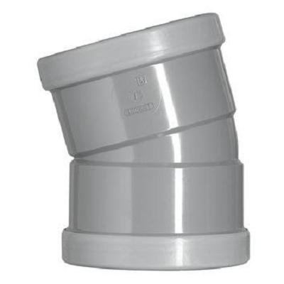 PVC bocht 250 mm kort 15° manchet 2 x mof