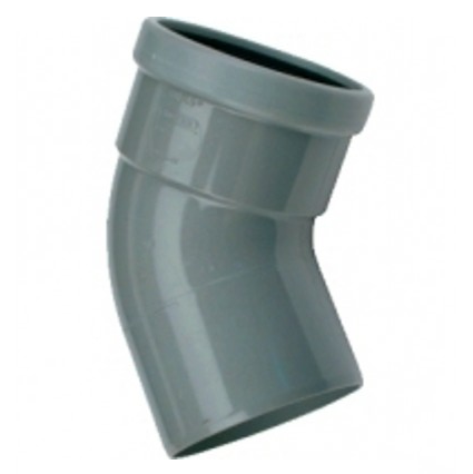 PVC bocht 250 mm 45° manchet mof/spie