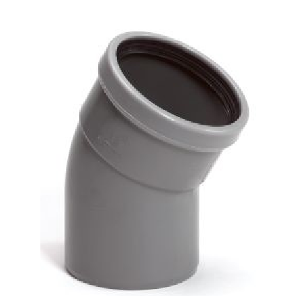 PVC bocht 250 mm 30° manchet mof/spie