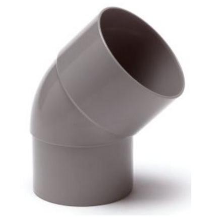 PVC Hemelwaterafvoer bocht 80 mm 45 GR mof/spie verjongd (M/VS)