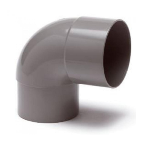 PVC Hemelwaterafvoer bocht 80 mm 90 GR mof/spie verjongd (M/VS)