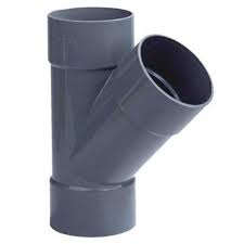 PVC T stuk 45° - 3 x lijm mof 40 mm