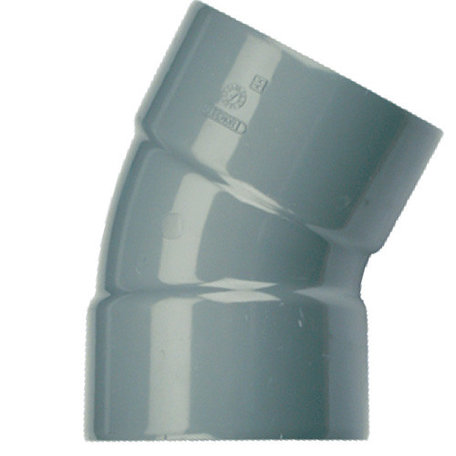 Pvc bocht 110 mm 30° - 2 x lijm mof